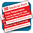 Emergency Contact Data windshield and window decals alert medical personnel and first responders that your medical records are available for viewing.