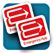 Emergency Contact Data medical record alert sticker for smart phone and tablet.