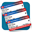 Emergency Contact Data Keychain Tag with name, member ID, and QR code give first responders and medial personnel immediate access to your medical records.