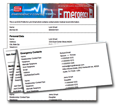 Easily print your personal medical health record.